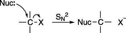 "The S<sub/></noscript>N2 mechanism.""/> <div class="