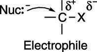 Nucleophile-electrophile attraction.