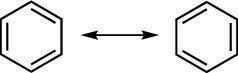Benzene resonance structures.