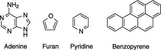 Some aromatic rings found in nature.
