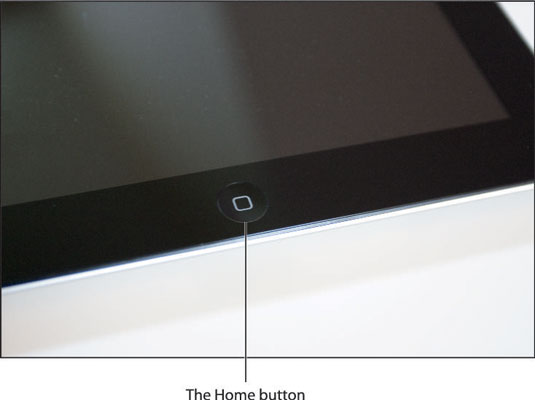 Press the Home button to (among other things) leave standby mode or return to the Home screen.