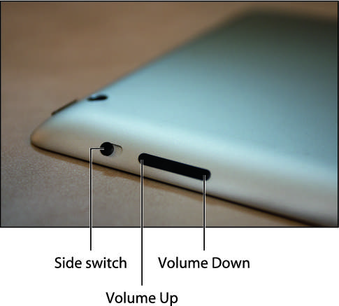 Use the Side switch to toggle your tablet between normal and silent modes.