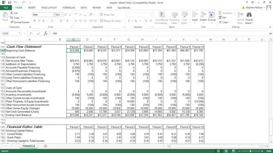the cash flow statement of quickbooks u0026 39  business plan