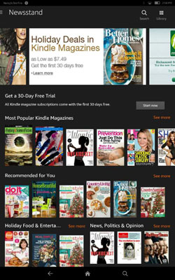 Content Libraries on Your Fire Tablet - dummies