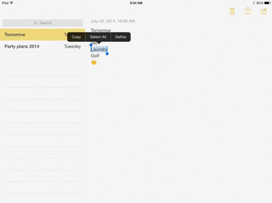 how to copy and paste in ipad s notes app dummies