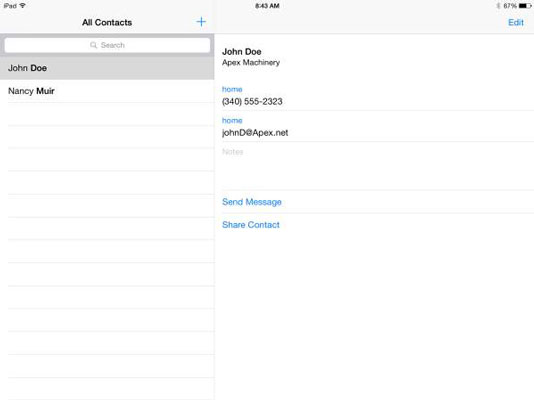 how to add email address to ipad contacts