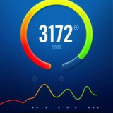 The Nike+ app dashboard.