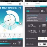 The Polar Flow app dashboard.
