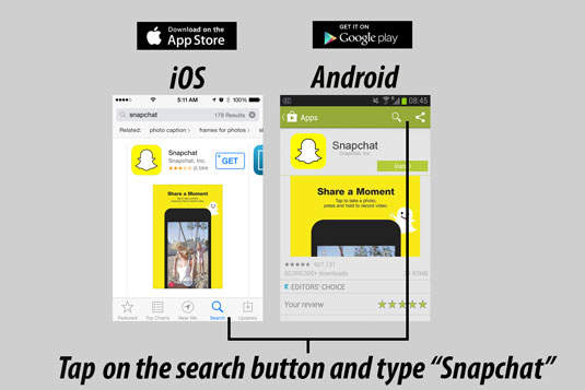 How to Download Snapchat - dummies