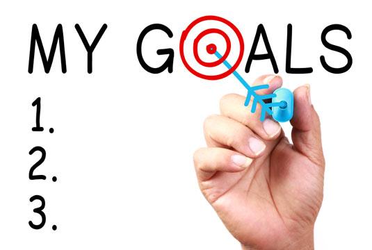 Setting a list of goals.