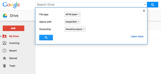 How To Find Files In Google Drive Dummies