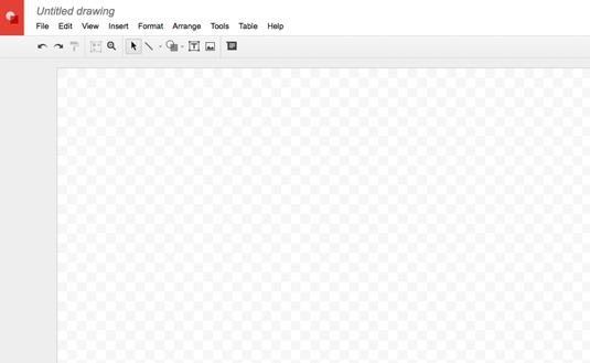 Figure 1: A blank Google drawing.