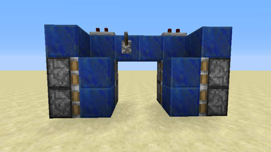 adding sticky pistons to hidden minecraft door