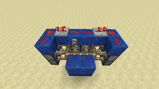 using redstone dust and repeaters for hidden doors