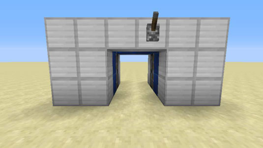 adding a lever to hidden door in minecraft