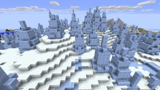 minecraft snowy biomes