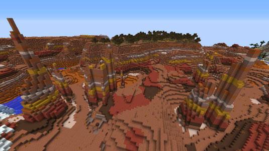 minecraft mesa bryce biome