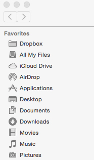 Figure 1: Dropbox on your Mac.