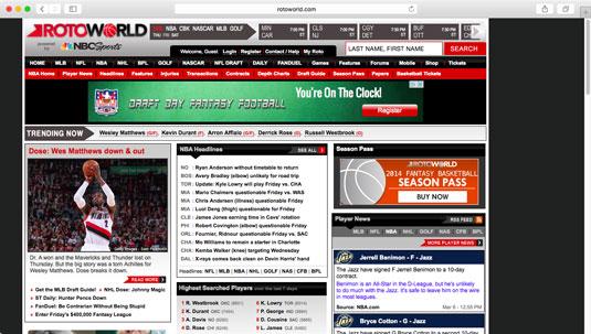 League sites