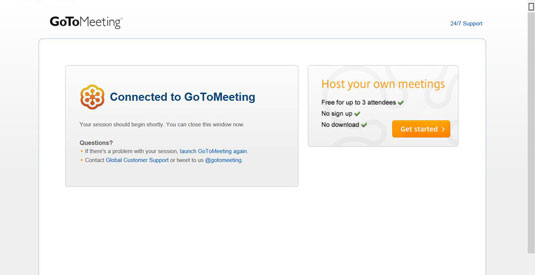 how to set up a gotomeeting conference call