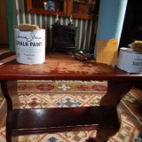 Elements needed to paint furniture with chalk paint.