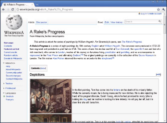 The Wikipedia home page.