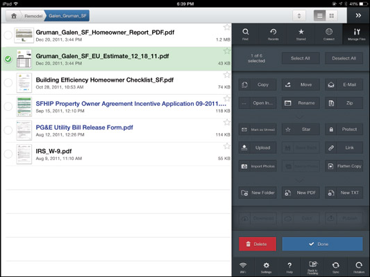 iPad at Work: How to Move Files with GoodReader - dummies