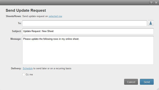 Figure 1: Sending an update request.