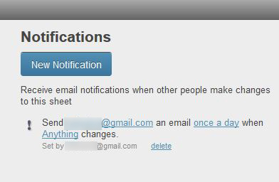 Figure 1: Setting up a notification.