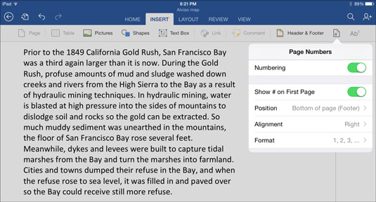 How to Lay Out a Word Document on the iPad - dummies