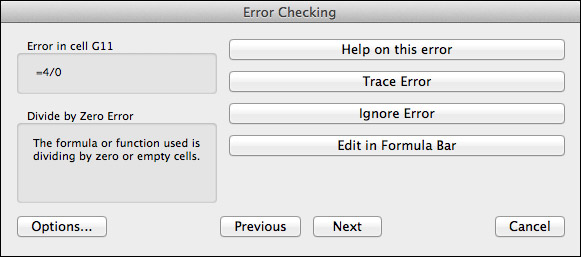 Running the error checker.