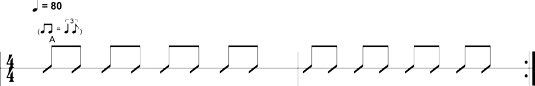Eighth-note shuffle 1.