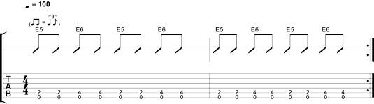 Eighth-note shuffle 4.