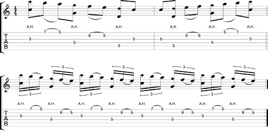 C scale harp-style.