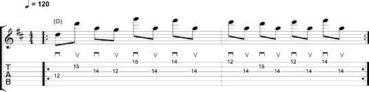 A string-skipping riff.