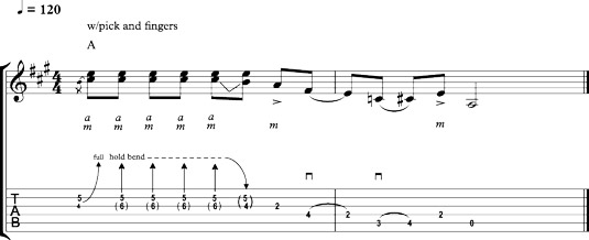 Hybrid picking a country‐style bend and run.