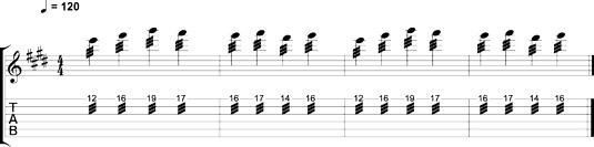 Tremolo picking Van Halen–style.