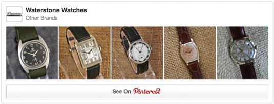 A Pinterest content widget.
