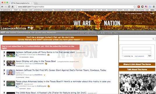 The Longhorn Nation subreddit.