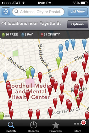 Quickly find Wi-Fi hotspots near you with the WiFi Finder app.