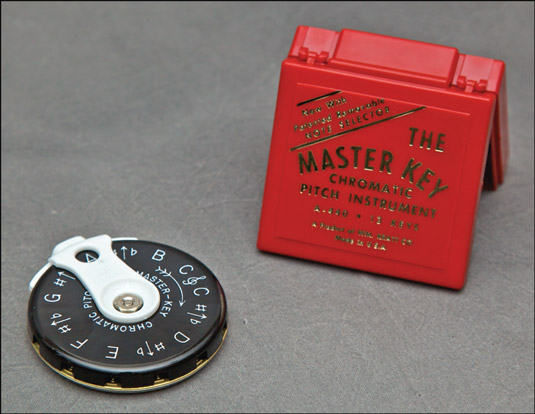 A pitch pipe. [Credit: Photograph by Nathan Saliwonchyk]