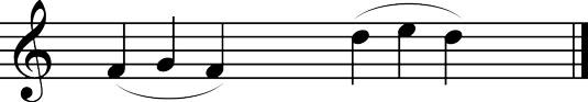 Three-note slurs.
