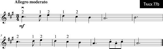 "Trio from Mozart's ""Haffner"" Symphony."
