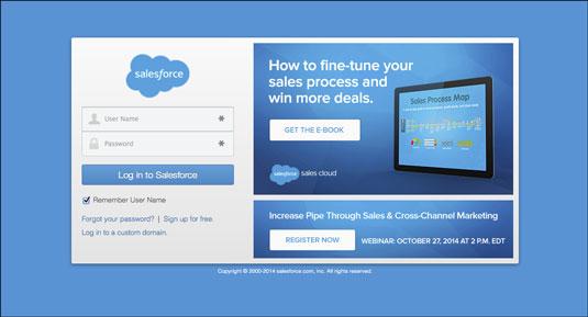 The Salesforce.com login page.