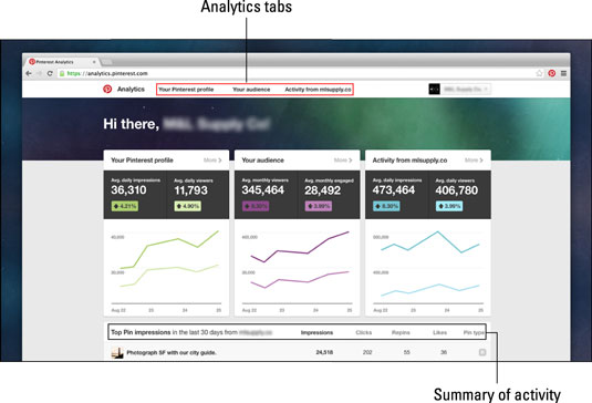 Pinterest's analytics provide valuable information about users and how they interact with you
