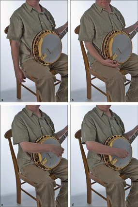 Using relaxation techniques to position the picking hand. [Credit: Photographs by Anne Hamersky]