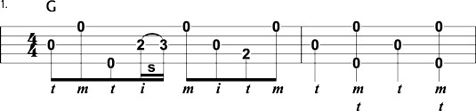 First essential fill-in lick to know in bluegrass banjo.