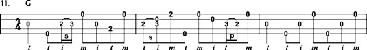Fill-in lick similar to the one Earl Scruggs used in Little Girl in Tennessee.