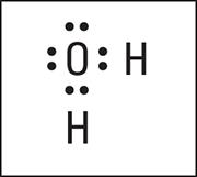 """Electron-dot formula of H<sub/></noscript>2O."""" width=""""180″/> <div class="""