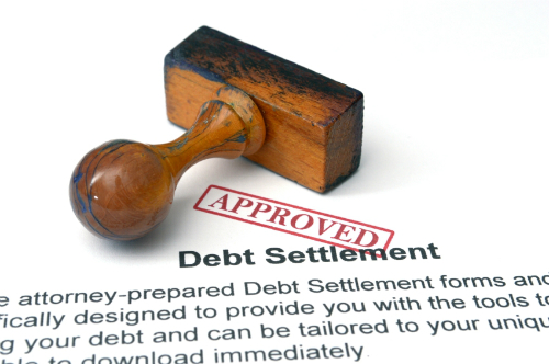 an approved debt settlement agreement.